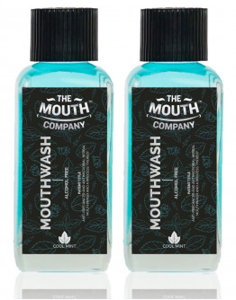 The Mouth Company  Cool Mint Mouthwash (Alcohol Free) Pack of 2 - 100 ml