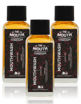 The Mouth Company Meswak & Pomegranate Mouthwash (Alcohol Free) pack of 3 - 100ml