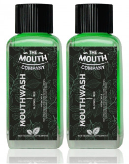 The Mouth Company Refreshing Peppermint Mouthwash (Alcohol Free) pack of 2 - 100ml