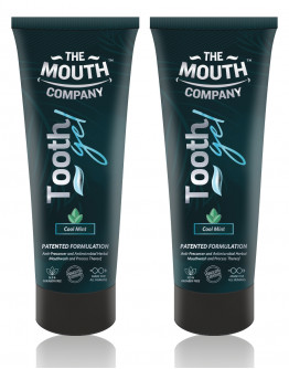 The Mouth Company Cool Mint Toothgel Pack of 2 - 75g