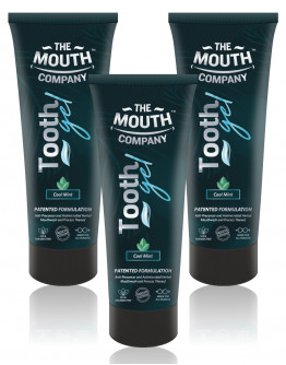 The Mouth Company Cool Mint Toothgel Pack of 3 - 75g