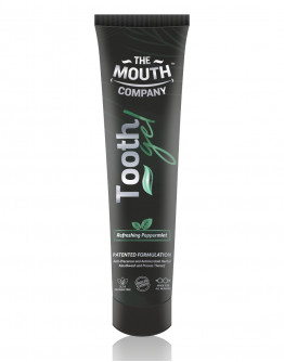 The Mouth Company Peppermint 20 gm  Toothgel Combo with S-Curve Handle Bamboo Brush