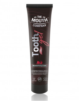 The Mouth Company Meswak-Pomegranate 20gm  Toothgel Combo with Herbal Mix 75gm Toothpaste and Rounded Handle Bamboo Brush