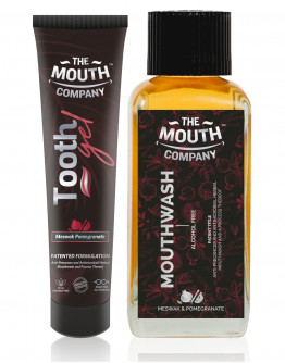 The Mouth Company Meswak-Pomegrante 20 gm Toothgel and Mouthwash (Alcohol Free) 100ml  Combo