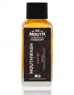 The Mouth Company Meswak-Pomegranate Mouthwash (Alcohol Free) 100 ml Combo with Herbal Mix Toothpastw 75 gm