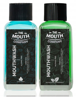 The Mouth Company Cool Mint and Peppermint Mouthwash (Alcohol Free) Combo - 100ml