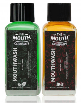 The Mouth Company Meswak-Pomegranate  and Peppermint Mouthwash (Alcohol Free) Combo - 100ml