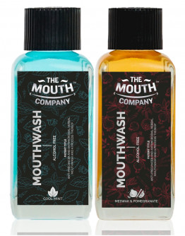 The Mouth Company Meswak-Pomegranate  and Cool Mint Mouthwash (Alcohol Free) Combo - 100ml