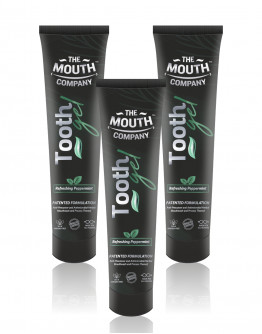 The Mouth Company Toothgel Refreshing Peppermint 20g - Pack of 3